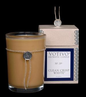 Clean Crisp White Candle - Votivo