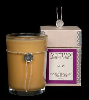 Vanilla Bergamot Blossom Candle - Votivo