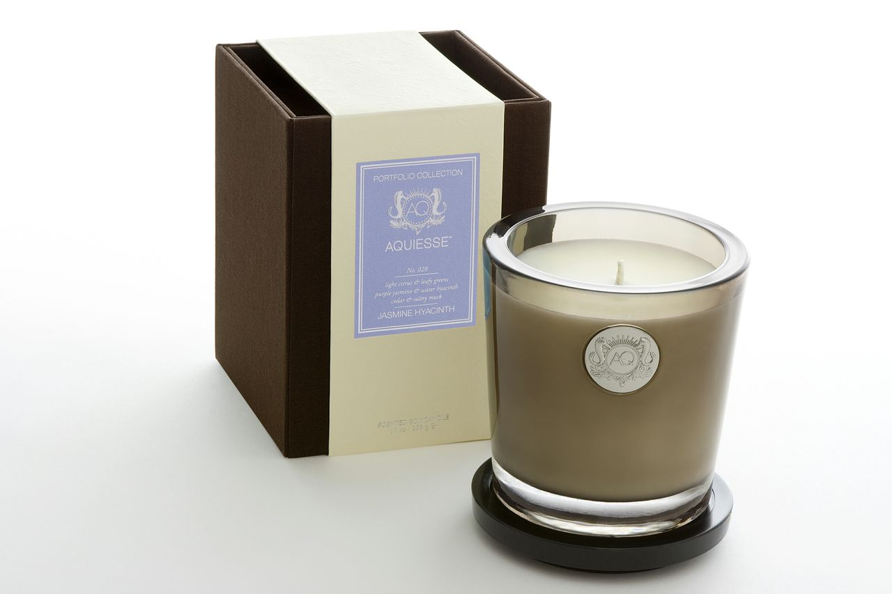 Jasmine Hyacinth Candle in Glass - Aquiesse
