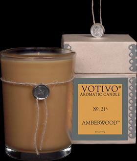 Amberwood Candle - Votivo