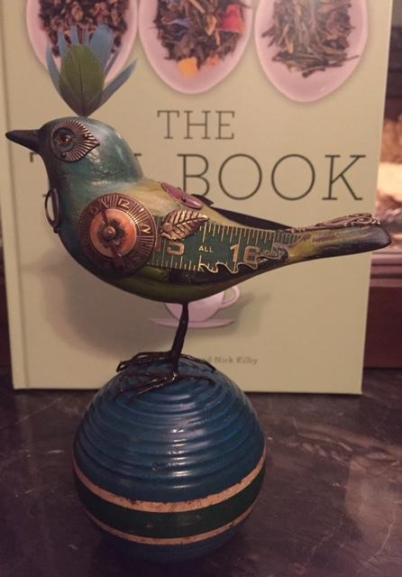 Green/Teal Bird on Croquet Ball by Mullanium