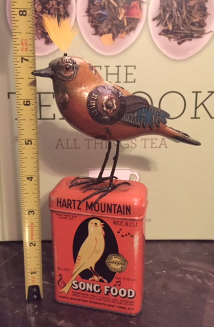 Bird on Seed Can by Mullanium
