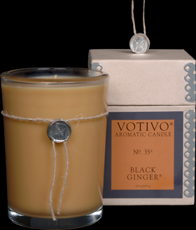 Black Ginger Candle - Votivo