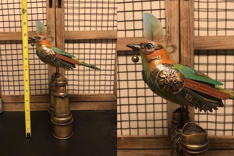 Colorful Bird on Binoculars by Mullanium