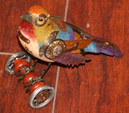 Catbird on Wheels by Mullanium