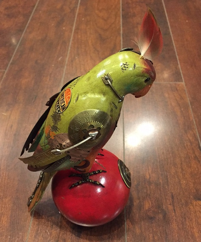 Large Parrot on Bocce Ball by Mullanium