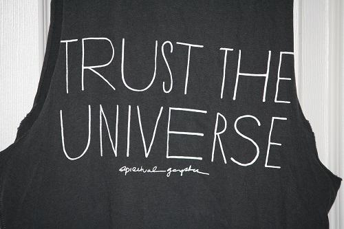 Spiritual Gangster Trust the Universe Rocker Tank Vintage Black