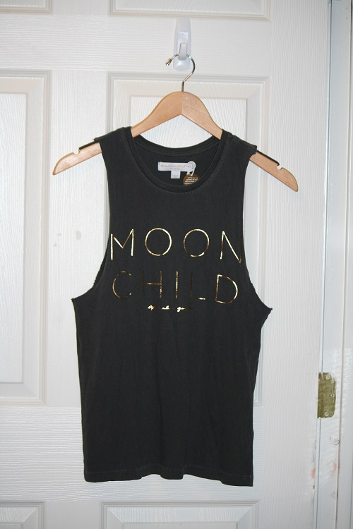 Spiritual Gangster Moon Child Rocker Tank Vintage Black