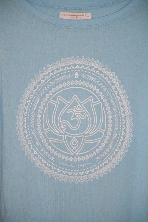 Spiritual Gangster Om Mandala Savasana Sweater Knit Pullover Neon Turquoise