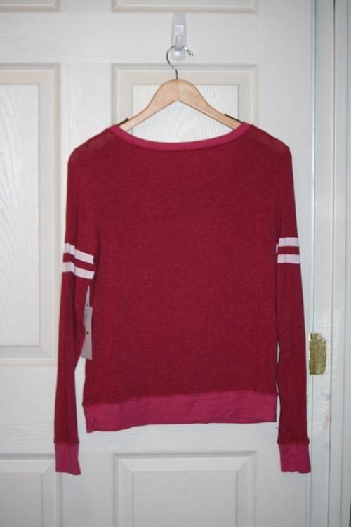 Spiritual Gangster SG Venice Logo Savasana Sweater Knit Pullover Pomegranate
