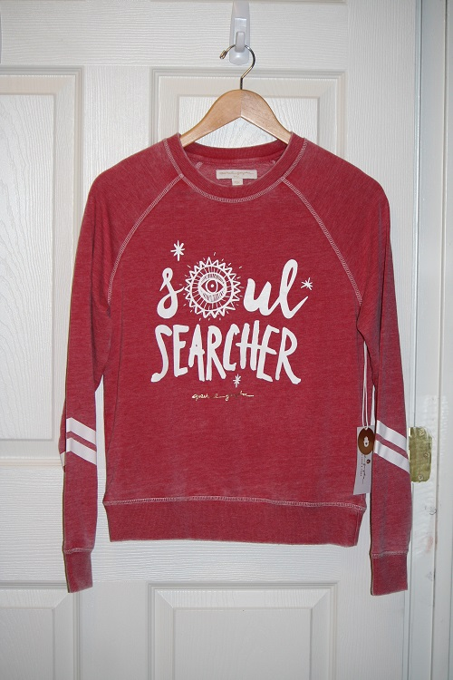 Spiritual Gangster Soul Searcher Tribal Burnout Sweatshirt Sayulita Red