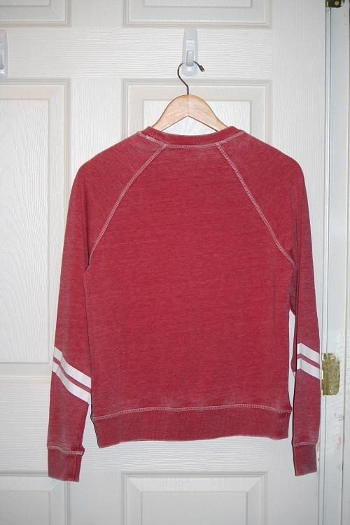 Spiritual Gangster Soul Searcher Tribal Burnout Sweatshirt Sayulita Red