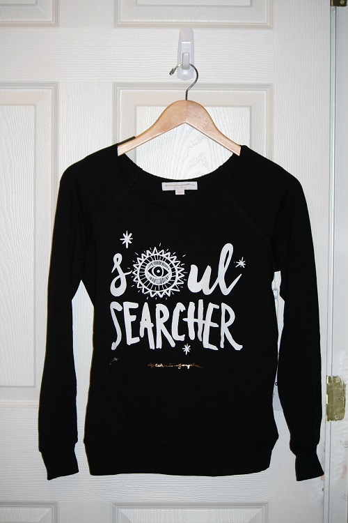 Spiritual Gangster Soul Searcher Tribal Muse Off Shoulder Pullover Black