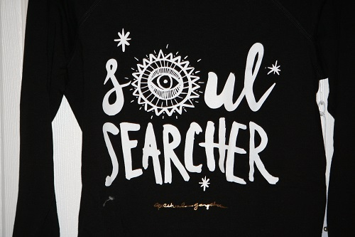 Spiritual Gangster Soul Searcher Tribal Muse Off Shoulder Pullover Black
