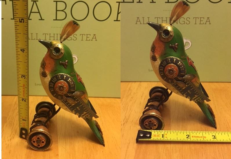 Multi-Color Bird on Wheels