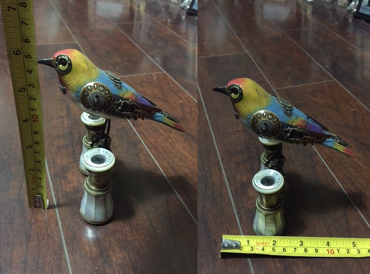 Multi-Color Bird on Mother-of-Pearl Binoculars
