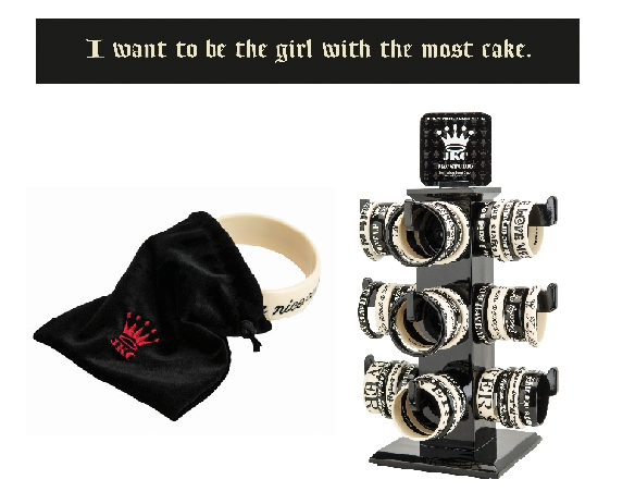 Bangle Bracelet - I want to be the girl with the most cake.