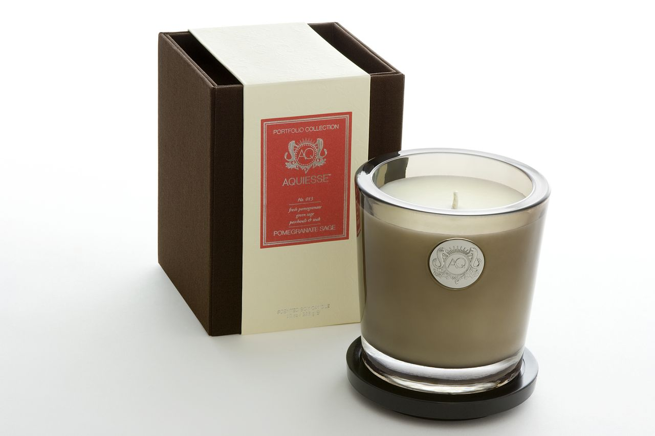 Pomegranate Sage Candle in Glass - Aquiesse