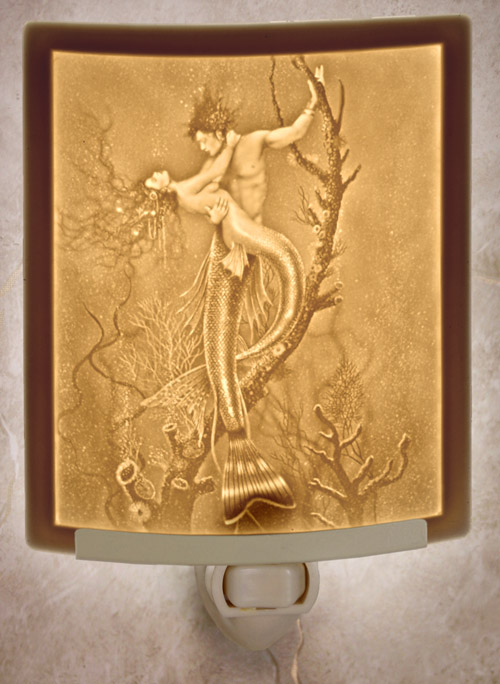 Mermaid & Merman Nightlight - David Delamare
