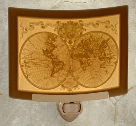 Old World Map Nightlight