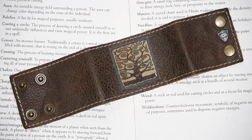 Tree Leather Cuff