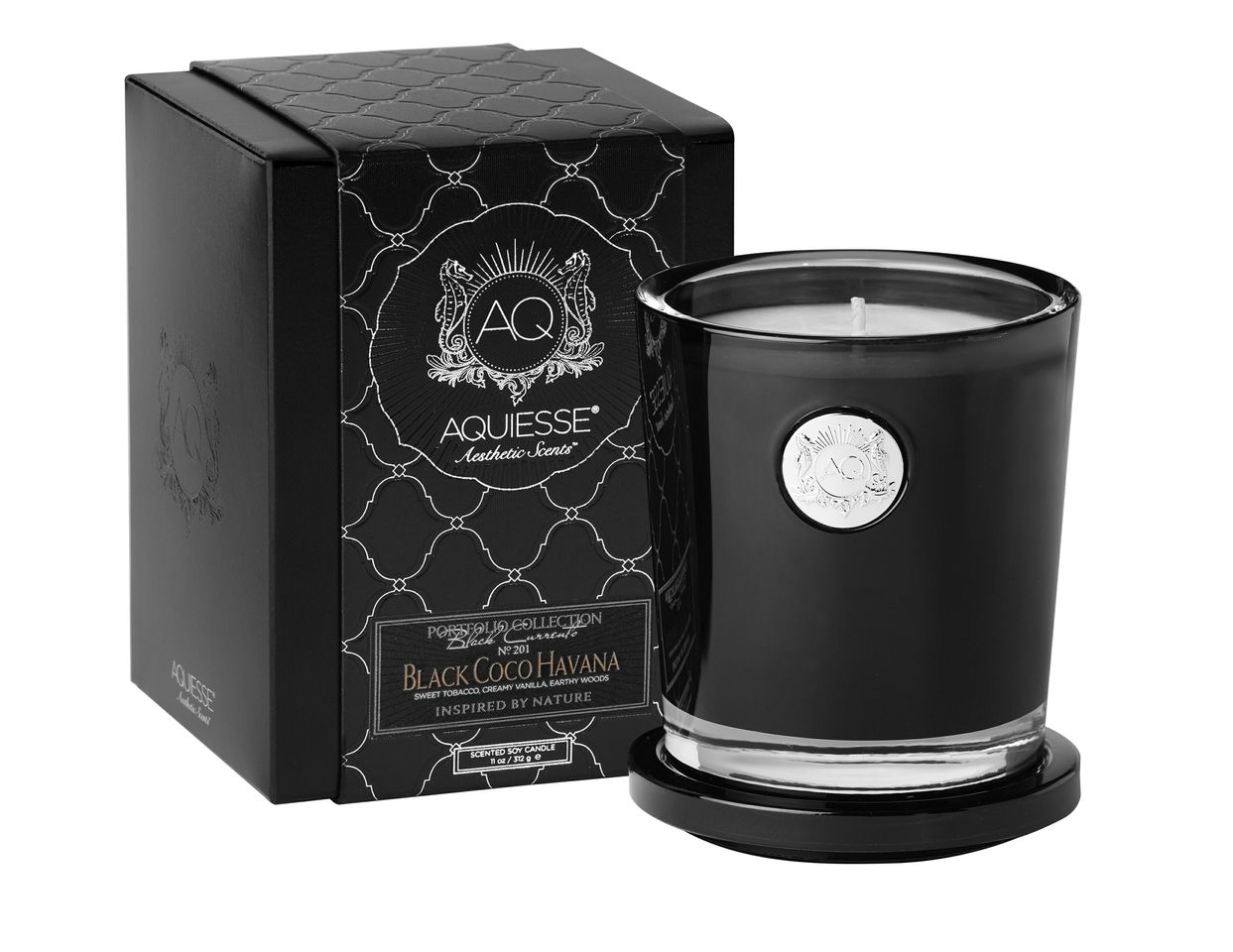 Black Coco Havana Candle in Glass - Aquiesse