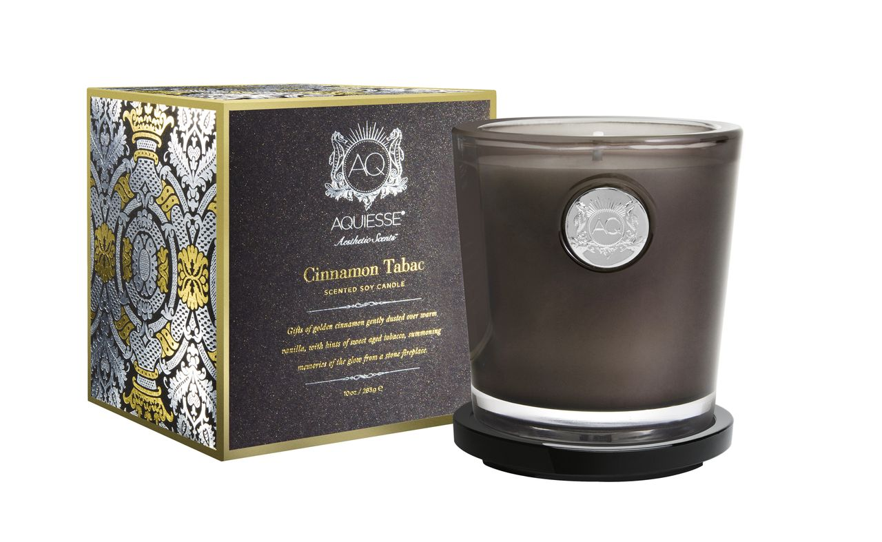 Cinnamon & Tabac Candle in Glass - Aquiesse