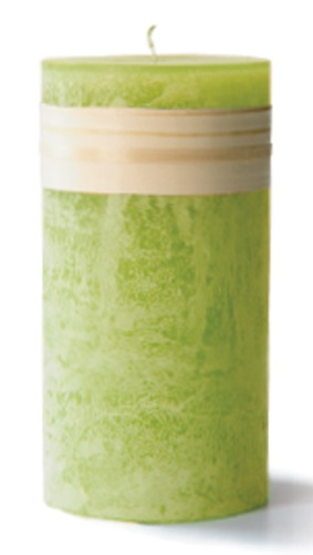 Timber Pillar Candle - Green Grape