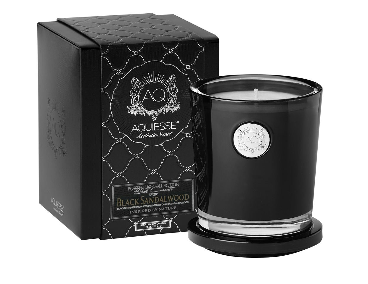 Black Sandalwood Candle in Glass - Aquiesse