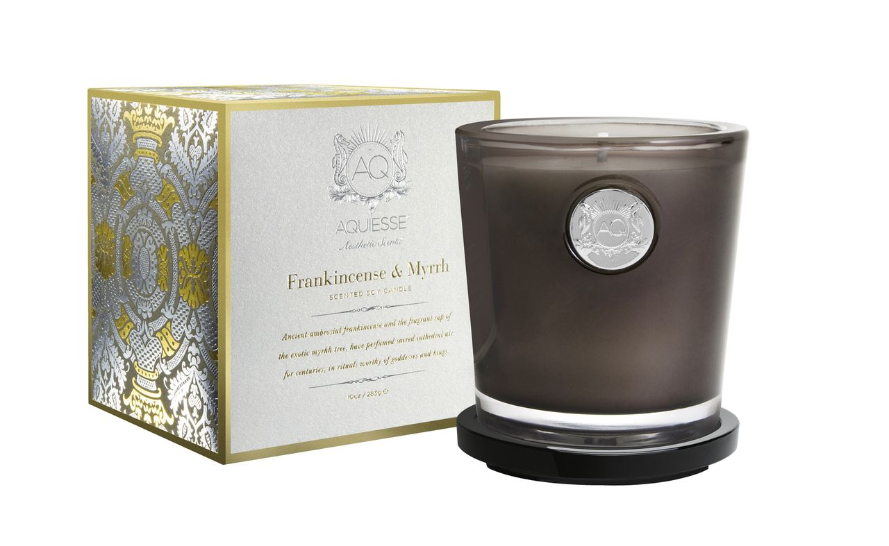 Frankincense & Myrrh Candle in Glass - Aquiesse