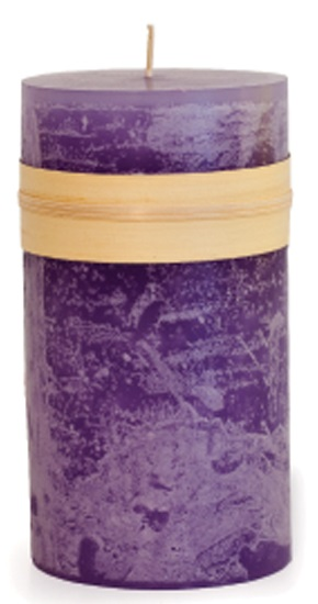 Timber Pillar Candle - Lavender