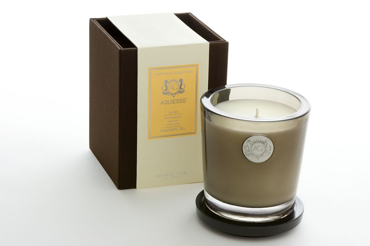 Mandarin Tea Candle in Glass - Aquiesse